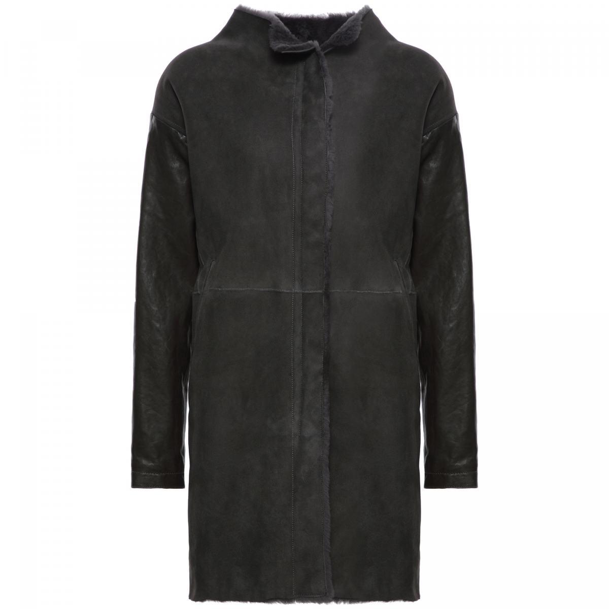 Пальто Principe Di Bologna серого цвета
