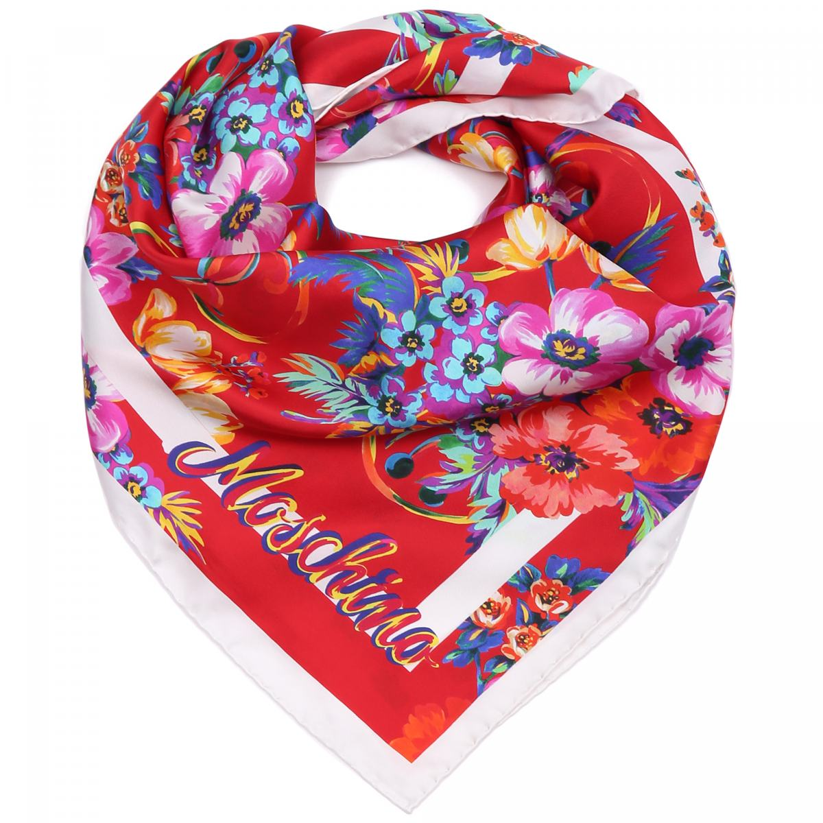 Платок Moschino цвет комбинированный
