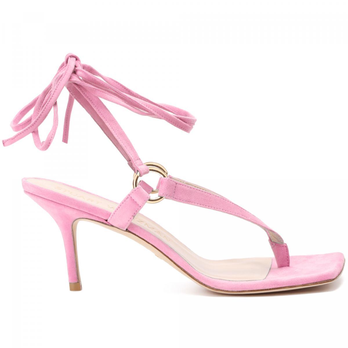 Stuart Weitzman Ladies Platinum 65 Sandals - Shoes - Jomashop